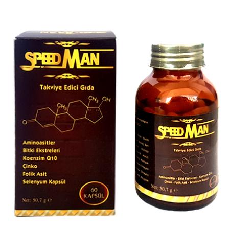 Speed Man 60 Kapsül Takviye Edici Gıda